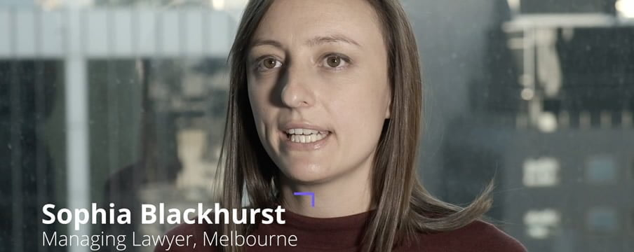 Play video - interviews with knowmore team members including Sophia Blackhurst, Managing Lawyer, Melbourne