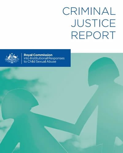 August 2017_Royal Commission's Criminal justice report released