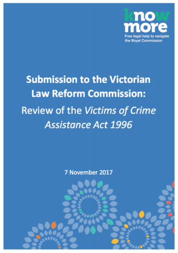 Submission to the Victorian Law Reform Commission: Review of the Victims of Crime Assistance Act 1996