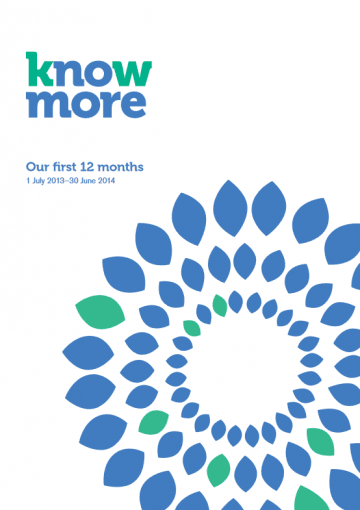 Our first 12 months, 1 July 2013 – 30 June 2014