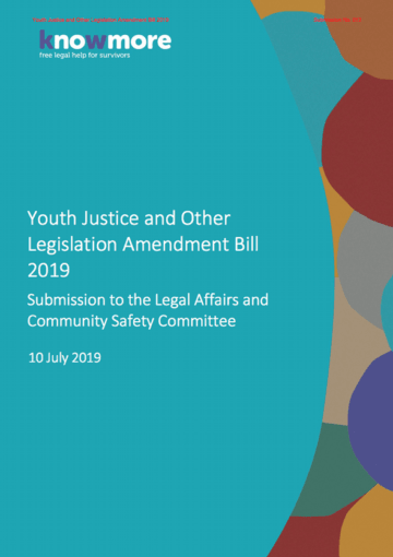 Youth Justice and Other Legislation Amendment Bill 2019