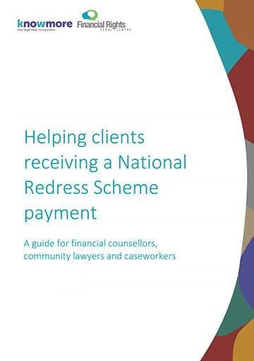 Helping clients receiving a National Redress Scheme payment