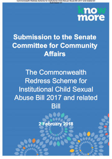 Commonwealth Redress Scheme for institutional Child Sexual Abuse Bill and other bill Submission