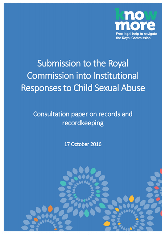 Submission to the Royal Commission into Institutional Responses to Child Sexual Abuse Consultation paper on records and recordkeeping
