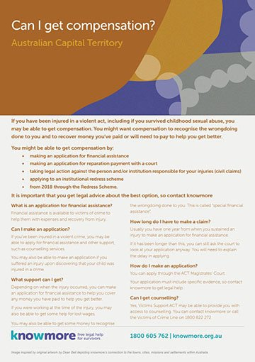 Can I get compensation? ACT fact sheet