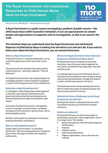 Royal Commission – About