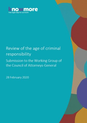 Review of the age of criminal responsibility