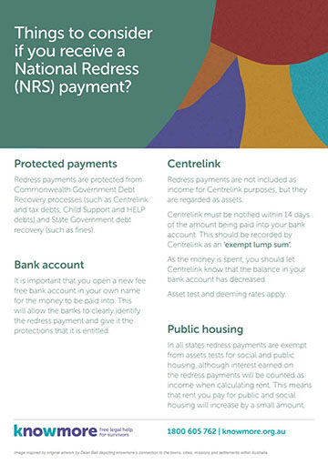 Things to consider if you receive a National Redress Scheme (NRS) payment