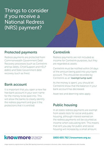 Helping clients receiving a National Redress Scheme payment - a guide for financial counsellors, community lawyers and case workers