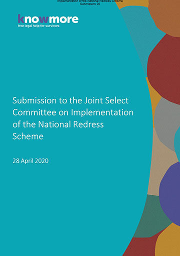 Submission to the Joint Select Committee on Implementation of the National Redress Scheme