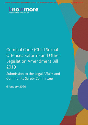 Criminal Code (Child Sexual Offences Reform) and Other Legislation Amendment Bill 2019