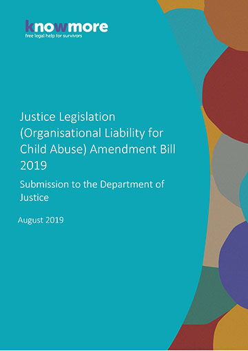 Justice Legislation (Organisational Liability for Child Abuse) Amendment Bill 2019 Submission to the Department of Justice