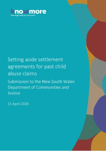 Setting aside settlement agreements for past child abuse claims