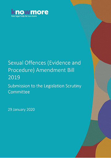 Sexual Offences (Evidence and Procedure) Amendment Bill 2019