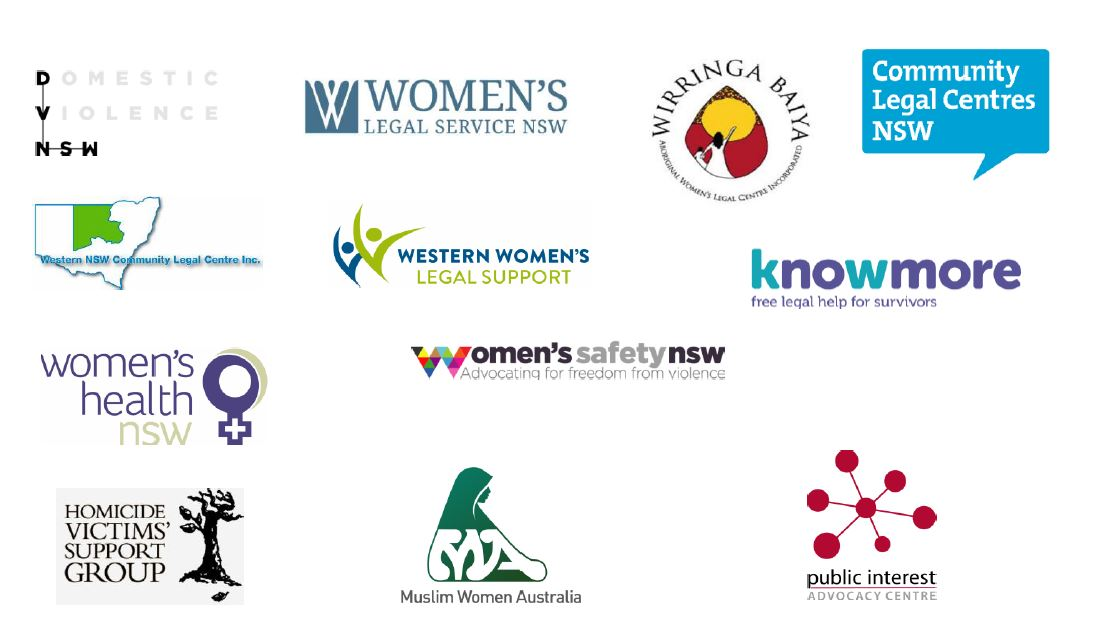 Logos of the different victim-survivor groups who released a media statement
